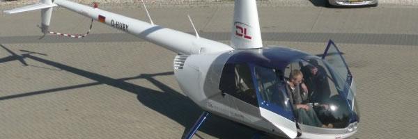 Robinson R44 Reparaturlackierung