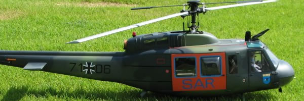 """Scale Model Helicopter Typ Bell UH-1D """"HUEY"""""""