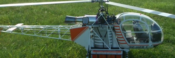 Alouette Scale Modell Lackierung